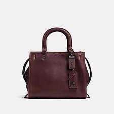 Image of Coach Australia BP/OXBLOOD ROGUE 25 IN GLOVETANNED PEBBLE LEATHER