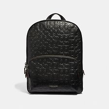 Image of Coach Australia QB/BLACK KENNEDY BACKPACK IN SIGNATURE LEATHER