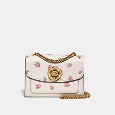 Image of Coach Australia B4/CHALK MULTI PARKER 18 WITH MINI VINTAGE ROSE PRINT