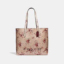 Image of Coach Australia GD/BEECHWOOD HIGHLINE TOTE WITH FLORAL PRINT