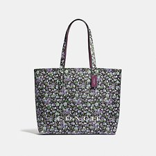 Image of Coach Australia SV/BLACK1 HIGHLINE TOTE WITH FLORAL PRINT