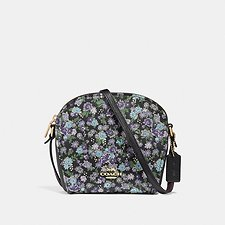 Image of Coach Australia GD/BLACK FARROW CROSSBODY WITH FLORAL PRINT