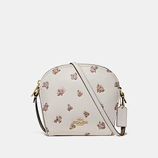 Image of Coach Australia GD/CHALK FARROW CROSSBODY WITH FLORAL PRINT