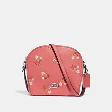 Image of Coach Australia SV/BRIGHT CORAL FARROW CROSSBODY WITH FLORAL PRINT
