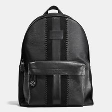 Picture of RIP AND REPAIR VARSITY STRIPE CAMPUS BACKPACK IN BUFFALO EMBOSSED LEATHER