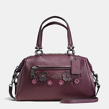 Image of Coach Australia DKFCG WILLOW FLORAL PRIMROSE SATCHEL IN PEBBLE LEATHER