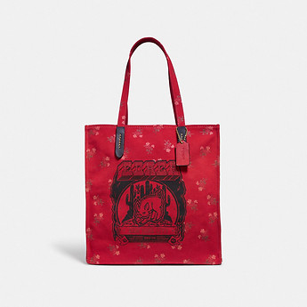 Image of Coach Australia  LUNAR NEW YEAR TOTE WITH PIG MOTIF