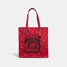 Image of Coach Australia GD/JASPER LUNAR NEW YEAR TOTE WITH PIG MOTIF