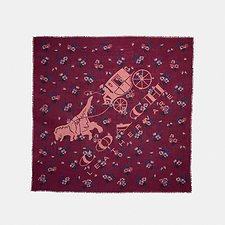 Image of Coach Australia WINE REXY PATCHWORK OVERSIZED SQUARE