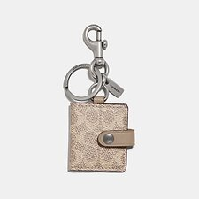 Image of Coach Australia NIPWH PICTURE FRAME BAG CHARM IN SIGNATURE CANVAS