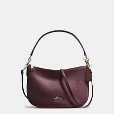Image of Coach Australia LI/OXBLOOD CHELSEA CROSSBODY IN PEBBLE LEATHER