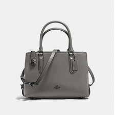 Image of Coach Australia DK/HEATHER GREY BROOKYLN CARRYALL 28 IN PEBBLE LEATHER