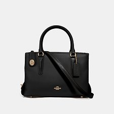 Image of Coach Australia LIBLK BROOKYLN CARRYALL 28 IN PEBBLE LEATHER