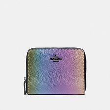 Image of Coach Australia GM/MULTICOLOR SMALL ZIP AROUND WALLET WITH OMBRE