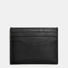 Image of Coach Australia BLACK CARD CASE IN SPORT CALF LEATHER