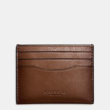 Image of Coach Australia DARK SADDLE CARD CASE IN SPORT CALF LEATHER