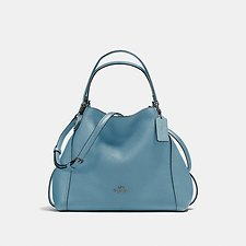 Image of Coach Australia DK/CHAMBRAY EDIE SHOULDER BAG 28 IN PEBBLE LEATHER