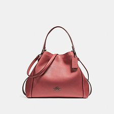 Image of Coach Australia DK/WASHED RED EDIE SHOULDER BAG 28 IN PEBBLE LEATHER