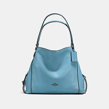 Image of Coach Australia DK/CHAMBRAY EDIE SHOULDER BAG 31 IN PEBBLE LEATHER