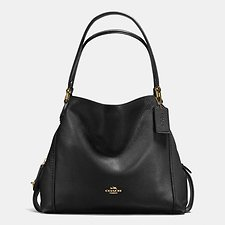 Image of Coach Australia LI/BLACK EDIE SHOULDER BAG 31 IN PEBBLE LEATHER