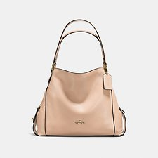 Image of Coach Australia LI/BEECHWOOD EDIE SHOULDER BAG 31 IN PEBBLE LEATHER