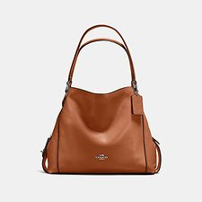 Image of Coach Australia LI/1941 SADDLE EDIE SHOULDER BAG 31 IN PEBBLE LEATHER