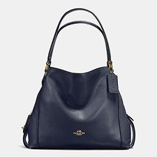 Image of Coach Australia LI/NAVY EDIE SHOULDER BAG 31 IN PEBBLE LEATHER