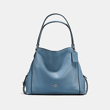 Image of Coach Australia SV/SLATE EDIE SHOULDER BAG 31 IN PEBBLE LEATHER