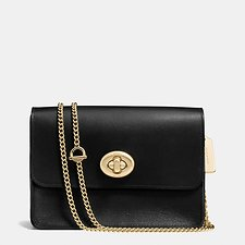 Picture of TURNLOCK CHAIN CROSSBODY IN CALF LEATHER