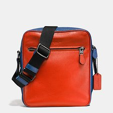 Picture of REFINED PEBBLED COLORBLOCK METROPOLITAN FLIGHT BAG