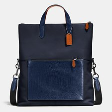 Picture of MANHATTAN FOLDOVER TOTE IN MIXED LEATHERS