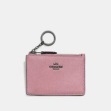 Image of Coach Australia GM/TRUE PINK MINI SKINNY ID CASE IN CROSSGRAIN LEATHER