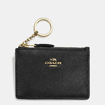 Image of Coach Australia  MINI SKINNY ID CASE IN CROSSGRAIN LEATHER