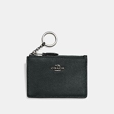 Image of Coach Australia V5N1A MINI SKINNY ID CASE IN CROSSGRAIN LEATHER