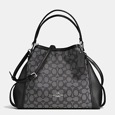 Picture of EDIE SHOULDER BAG 28 IN SIGNATURE JACQUARD