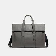 Image of Coach Australia QB/HEATHER GREY METROPOLITAN PORTFOLIO IN REFINED PEBBLE LEATHER
