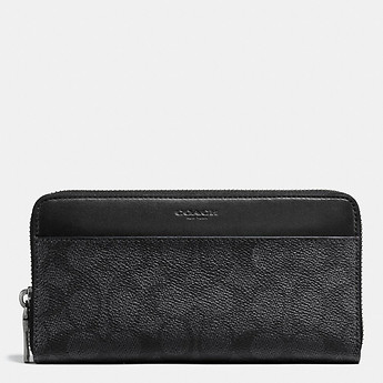 Image of Coach Australia  ACCORDION WALLET IN SIGNATURE COATED CANVAS