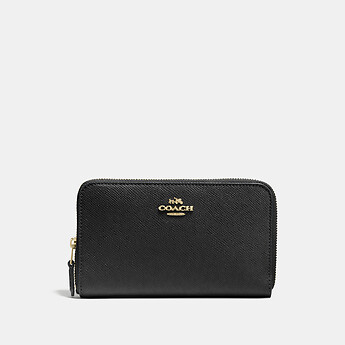 Image of Coach Australia  MEDIUM ZIP AROUND WALLET IN CROSSGRAIN LEATHER