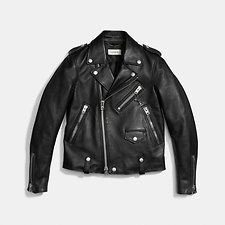 Image of Coach Australia BLACK ICON MOTO JACKET