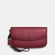 Image of Coach Australia BP/BORDEAUX CLUTCH IN GLOVETANNED LEATHER
