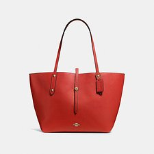 Image of Coach Australia GD/JASPER MARKET TOTE IN POLISHED PEBBLE LEATHER