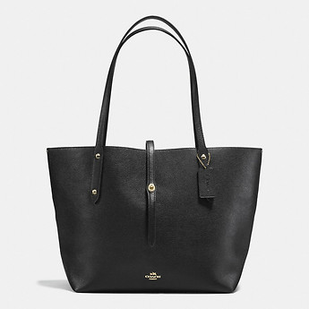 Image of Coach Australia  MARKET TOTE IN POLISHED PEBBLE LEATHER