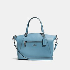 Image of Coach Australia DK/CHAMBRAY PRAIRIE SATCHEL IN POLISHED PEBBLE LEATHER