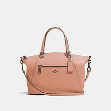 Image of Coach Australia DK/DARK BLUSH PRAIRIE SATCHEL IN POLISHED PEBBLE LEATHER