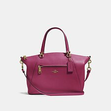 Image of Coach Australia GD/BRIGHT CHERRY PRAIRIE SATCHEL IN POLISHED PEBBLE LEATHER