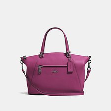 Image of Coach Australia GM/DARK BERRY PRAIRIE SATCHEL IN POLISHED PEBBLE LEATHER