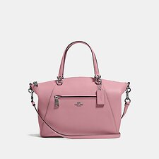 Image of Coach Australia GM/TRUE PINK PRAIRIE SATCHEL IN POLISHED PEBBLE LEATHER