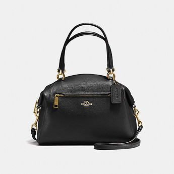 Image of Coach Australia  PRAIRIE SATCHEL IN POLISHED PEBBLE LEATHER
