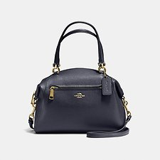 Image of Coach Australia LI/NAVY PRAIRIE SATCHEL IN POLISHED PEBBLE LEATHER