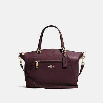 6a93b5cb9e615 Image of Coach Australia PRAIRIE SATCHEL IN POLISHED PEBBLE LEATHER